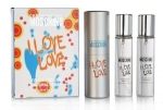 "Moschino ""I Love Love"" Twist & Spray 3х20ml women"